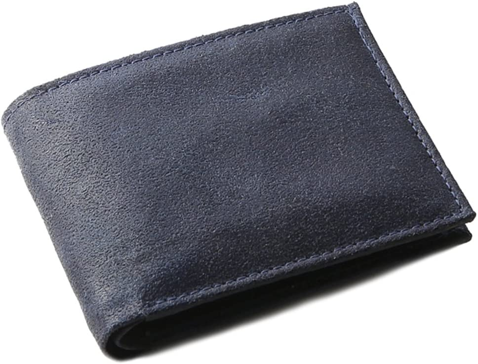 OHM New York Vintage Leather Wallet in Blue Color