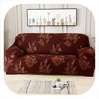 Memoirs- slipcovers Sofa Tight wrap All-Inclusive Slip-Resistant sectional L-Shape Corner Sofa Cover Elastic Couch Cover 1/2/3/4 Seater,Color 16,2-Seater(145-185cm)