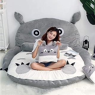 Plysch Totoro sovsäck Barnmadrass mjuk tjockare, enkel dubbel Tatami Totoro madrass plysch sova pad Söt sovsäck Bäddsoffa,...