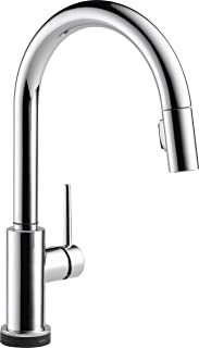 Delta Faucet Trinsic Single-Handle Touch Kitchen Sink Faucet with Pull Down Sprayer, Touch2O Technology and Magnetic Docking Spray Head, Chrome 9159T-DST
