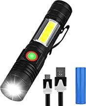 Rechargeable Flashlight(Battery included), Eocean Magnetic Flashlight with COB Sidelight,Waterproof,Zoomable,Best Camping,...