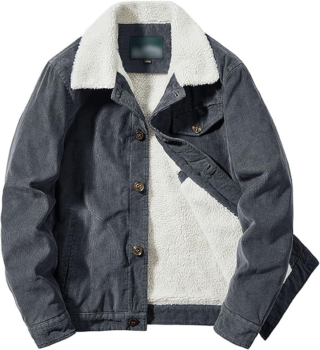 Kissonic 5 popular Men's Casual Warm Sherpa Down Long Sleeve Lined Button Cheap SALE Start