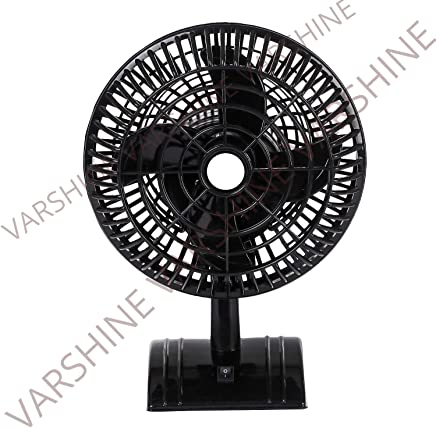 Varshine Happy Home || Laurels || Mini Table Fan Black Sweety || 9 inch || ISI Approved Copper Motor || 1 year Warranty || Limited Edition || Model – Black Sweety