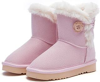 Weestep Wood Button Warm Shearling Winter Lightweight Snow Boots