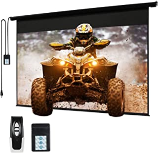"""120"""" Motorized Projector Screen Electric Diagonal Automatic Projection 4:3 HD Movies Screen for Home Theater Presentation ..."""