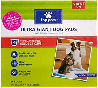 New & Improved Top Paw Ultra Giant Dog Pads | 44% Bigger & 2X More Absorbent