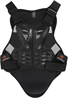 Ridbiker Motorcycle Armor Vest Chest Back Spine Protector Touring Motocross Off-Road Racing Cycling Body Guard,Black,XL