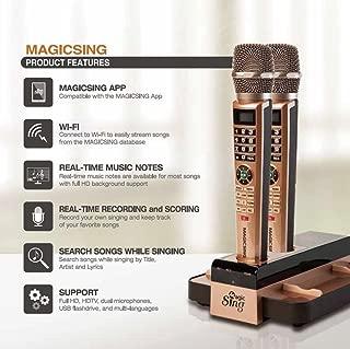 2018 Magic Sing E5 WiFi Two Wireless Karaoke Mics Free 12K English songs & 1 Year Subscription for 220,000 songs: Tagalog Hindi Spanish Korean Chinese Japanese Vietnamese Thai Germany Russian ....