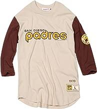 Mitchell & Ness San Diego Padres MLB Men's Wild Pitch 3/4 Sleeve Premium Shirt