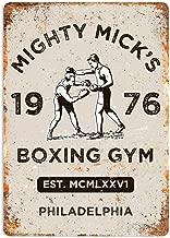 MiMiTee Mick's Boxing Gym Cartel de Pared de Chapa Carteles de Advertencia de Metal Vintage Cartel de Arte de Hierro Cartel Colgante Jardín Regalo de jardín