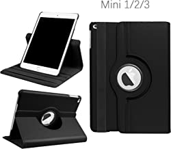 iPad Mini 1/2/3 Case - 360 Degree Rotating Stand Smart Cover Case with Auto Sleep/Wake Feature for Apple iPad Mini 1 / iPad Mini 2 / iPad Mini 3 (Black) … …