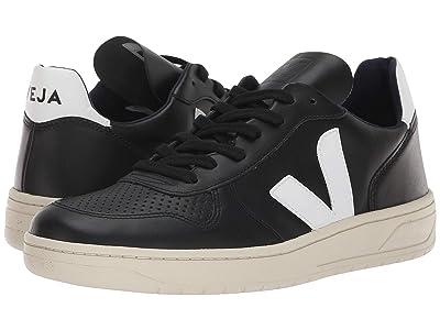 VEJA V-10 (Black/White Leather) Athletic Shoes
