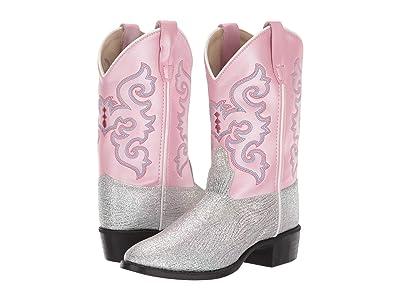 Old West Kids Boots Sophie (Toddler/Little Kid) (Pink Glitter) Cowboy Boots