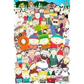 Amazon Com Rhythmhound South Park Tv Show Poster Collage Prints Posters Prints