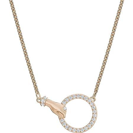 Swarovski Collar Swarovski Symbolic, Blanco, Baño en Tono Oro Rosa