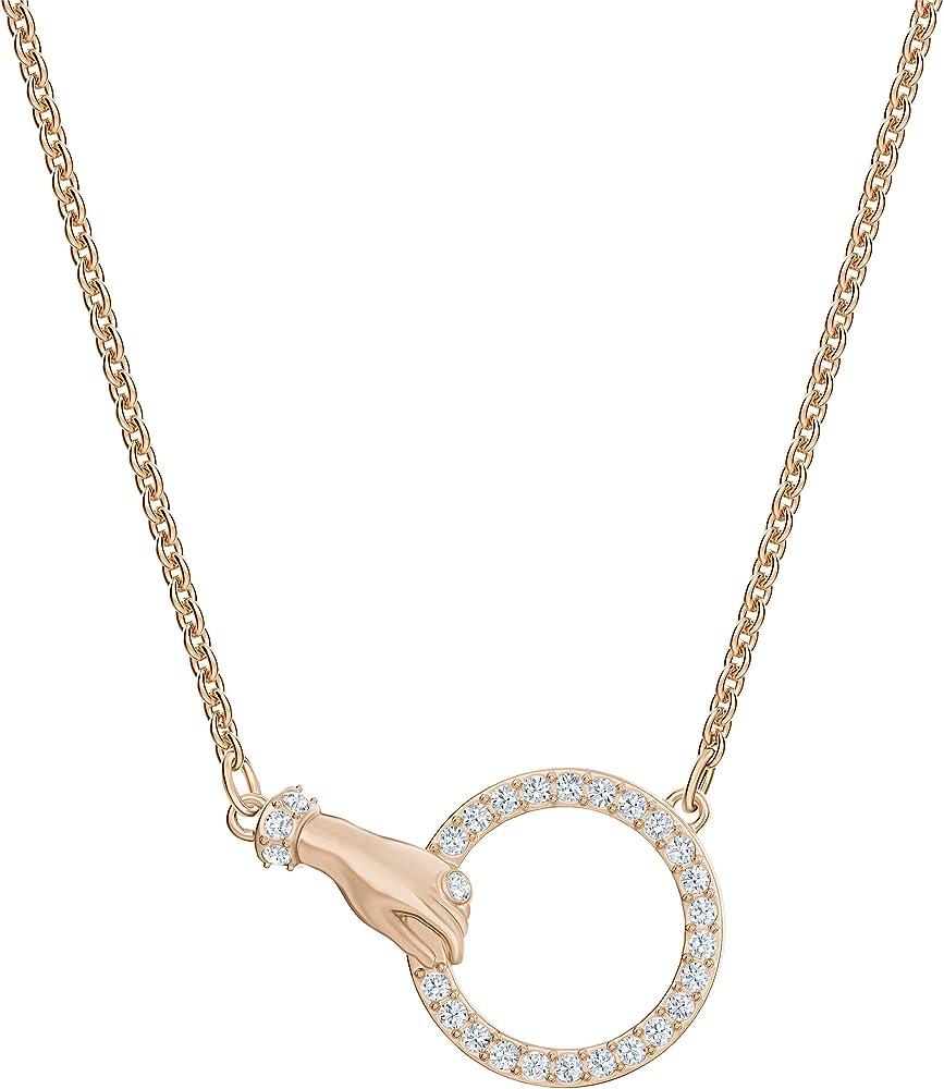 Collana da donna di swarovski in lega di metalli placcatura oro rosa e pavé di cristalli cry. 5489573