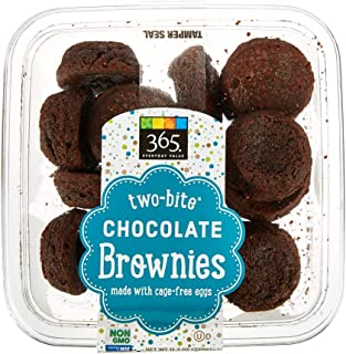 365 Everyday Value, Two-bite Chocolate Brownies, 11.3 oz