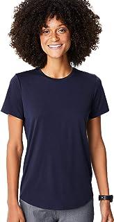 FIGS Ridiculously Soft Short Sleeve Underscrub Shirt for Women — Modern Relaxed Fit Crewneck Shirt