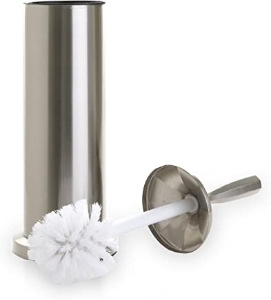 featured product BINO 'Harrington' Toilet Brush & Holder with Removable Drip Cup,  Brushed Nickel