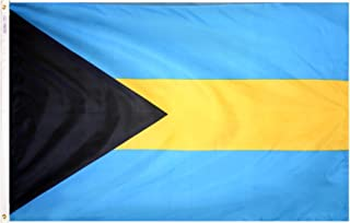 Annin Flagmakers Model 190490 Bahamas Flag 3x5 ft. Nylon SolarGuard Nyl-Glo 100% Made in USA to Official United Nations Design Specifications.