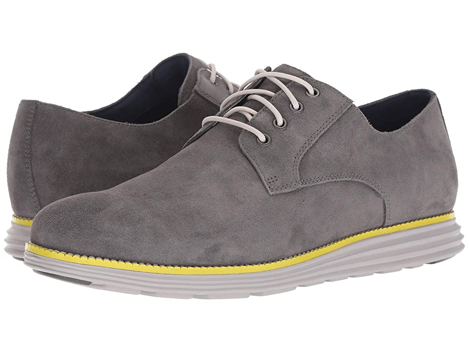 Cole Haan Original Grand Plain Toe (Magnet Suede/Vapor Grey/Sulphur Spring) Men