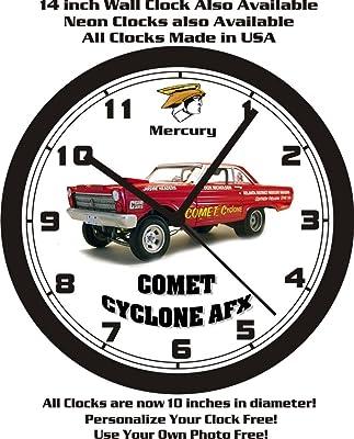 1965 MERCURY COMET CYCLONE AFX RACE CAR WALL CLOCK-FREE USA SHIP!