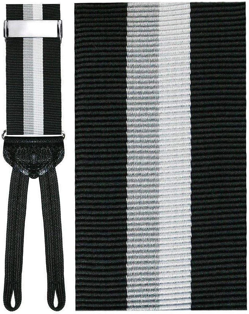 Liguria Black Striped Silk Suspenders