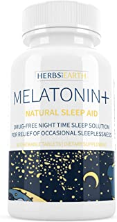Melatonin + Sleep Faster & Longer, 3 MG Fast Acting Chewable Tablets, For Insomniacs or Stress Induced Sleeplessness, Drug...