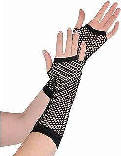 amscan 397288.1 Fishnet Gloves Long- Black