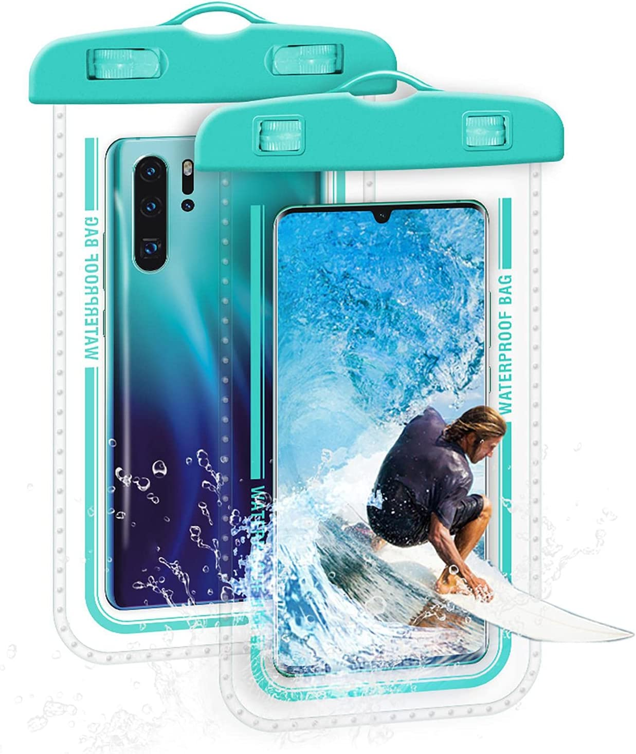 Mona43Henry Universal Waterproof Phone Bag, 7 Inches Waterproof Phone Pouch, Full-Screen Transparent Touch Sensitive Cellphone Dry Bag, Super Tightness Underwater Case Polite