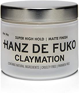 Hanz de Fuko Claymation- Premium Men's Hair Styling Clay with Matte Finish (2 oz)- Cruelty Free
