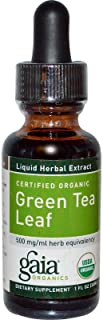 Green Tea Certified Organic Extract Gaia Herbs 1 oz Liquid