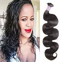 ZSF Hair Brazilian body wave Hair bulk Brazilian human hair for braiding bulk no attachment 4pcs Brazilian braid hair in human bulk hair Mix Length 18