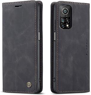 شاومى مى 10 تى / مى 10 تى برو (Xiaomi Mi10T / Mi 10T Pro 5G)جراب فليب حمايه من الجلد الطبيعى وحامل للكروت وبطاقات- لون اسود
