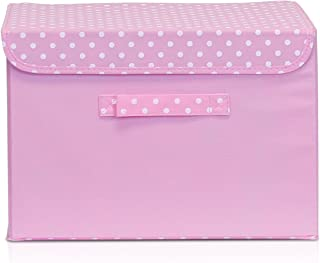 Furinno NW13203PK Non-Woven Fabric Soft Storage Organizer with Lid, Pink