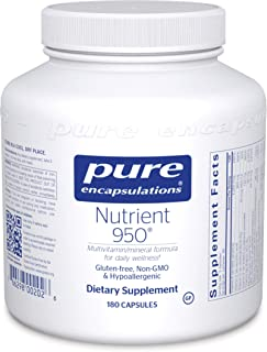 Pure Encapsulations - Nutrient 950 - Hypoallergenic Multi-Vitamin/Mineral Formula for Optimal Health - 180 Capsules