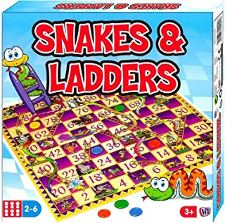 HTI Toys Snakes & Ladders Board Game, Pack of 1