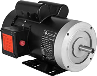 Mophorn 115V 230 V Electric Motor 56C Frame 1.5 hp Electric Motor 1725 RPM Single Phase Electric Motor 5/8 Inch Keyed Shaft for the Matching of Water Pumps