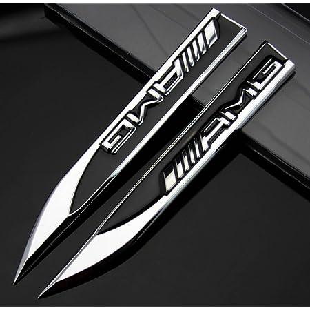 2 X Auto Aufkleber Metall Messer Emblem Für Schwarze Amg A B C E S R Serie Auto