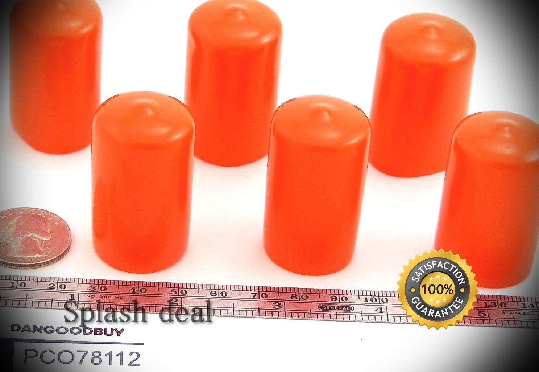 12 Choice Orange Max 84% OFF Push-On Pliable Vinyl Caps Tips End 7 Diam -Plastic 8