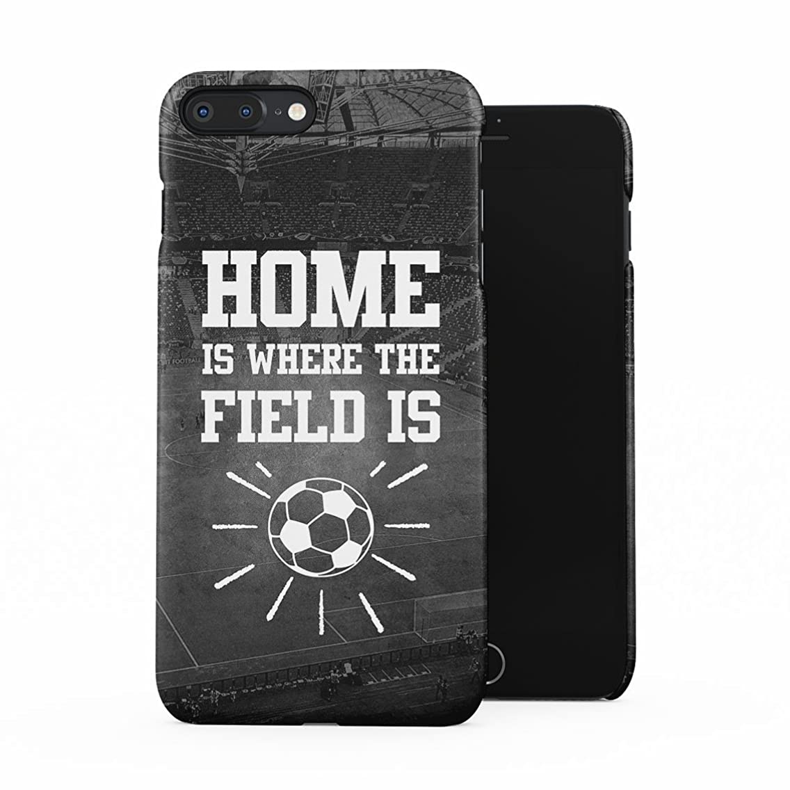 Soccer Football Field Stadium Home is Where The Field is Motivation Quote Plastic Phone Snap On Back Case Cover Shell for iPhone 7 Plus & iPhone 8 Plus