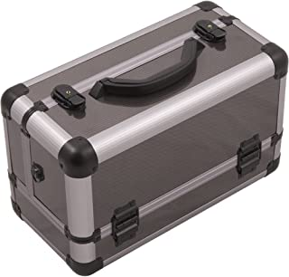 Hiker Fortezza Makeup Case Professional Nail Travel Organizer Box, Gray Carbon, 7 Pound