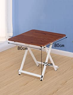 Home Portable Folding Table Square Table Dining Table Children s Table Colors  Sizes Optional   Color Size L W H 80 75cm