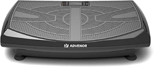 ADVENOR 4D Vibration Plate Exercise Machine Triple Motor 120 Speed w/Loop Bands Whole Body Workout Fitness 3D/4D Vibration Platform Whole Body Vibration Machine for Home Fitness Weight Loss&Shaping