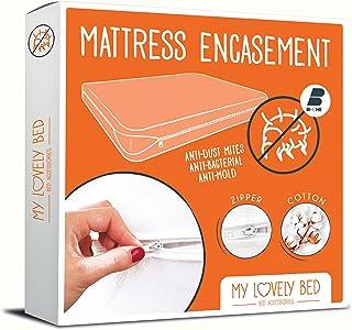 My Lovely Bed - Rénove Matelas 160x200 cm | Housse complète pour Matelas | Anti Acarien - Economique et Pratique - Tissu C...