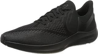 Nike Men's Air Zoom Winflo 6 Running Sneakers (12, Black/Black-Anthracite)