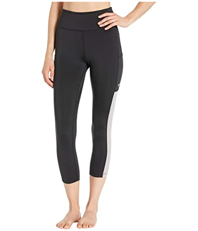 Nike All-In Mesh Pocket Crop Tights (Black/Atmosphere Grey/White) Women