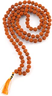 Aatm Tibetan 108 Beads Shiva Rudraksha Jaap Mala Necklace For Prayer & Healing (Beads Size - 6 mm)