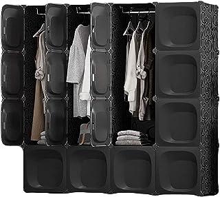 Garde-robe XINYALAMP Assemblage Armoire Simple Montage Imitation Chambre Armoire Armoire en Plastique Armoire de Rangement...