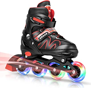 Sponsored Ad - ERNAN Inline Roller Skates,Adjustable Inline Skate for Kids and Adults with Full Light Up Wheels,Outdoor Ro...